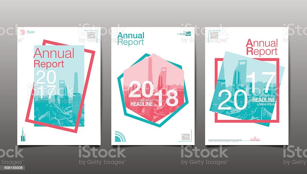 Annual Report 201720182019 Template Layout Design Stock