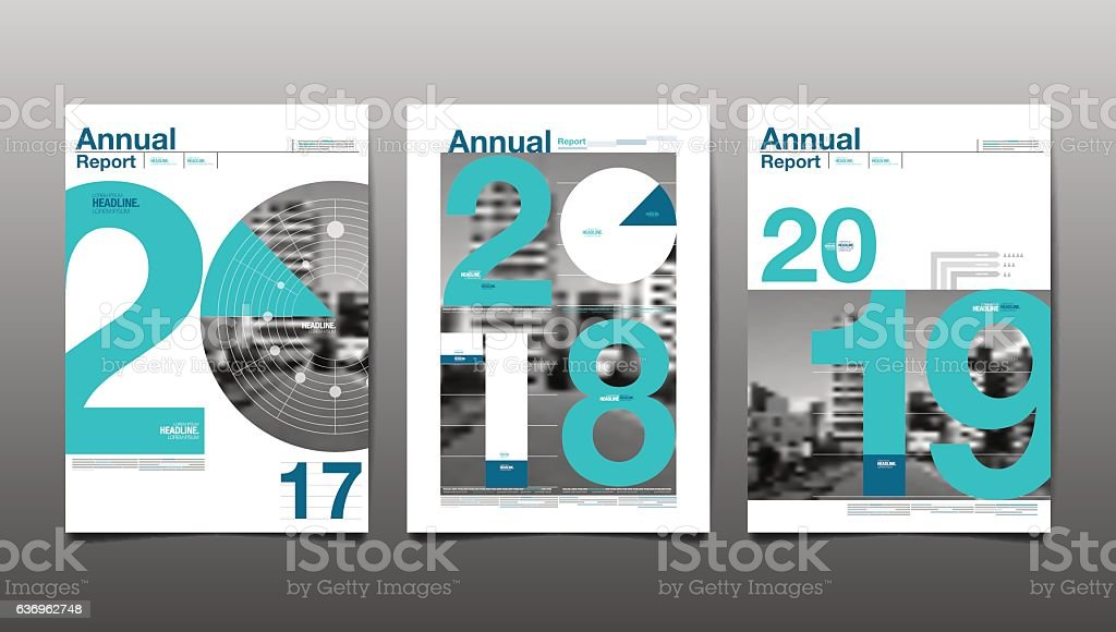 annual report 2017,2018,2019,future, business vector art illustration