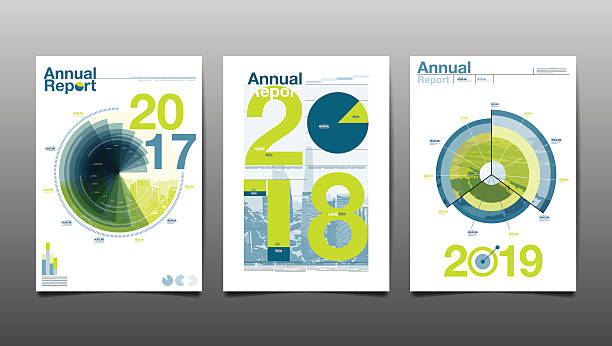 annual report 2017,2018,2019,future vector art illustration