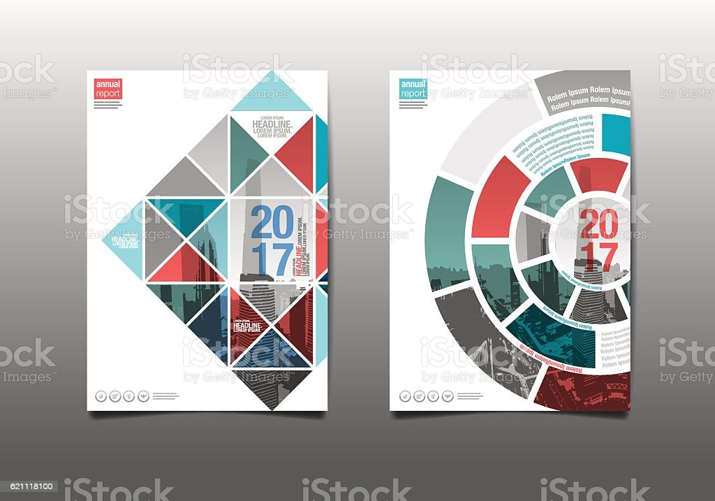 annual report 2017, template layout design vector art illustration