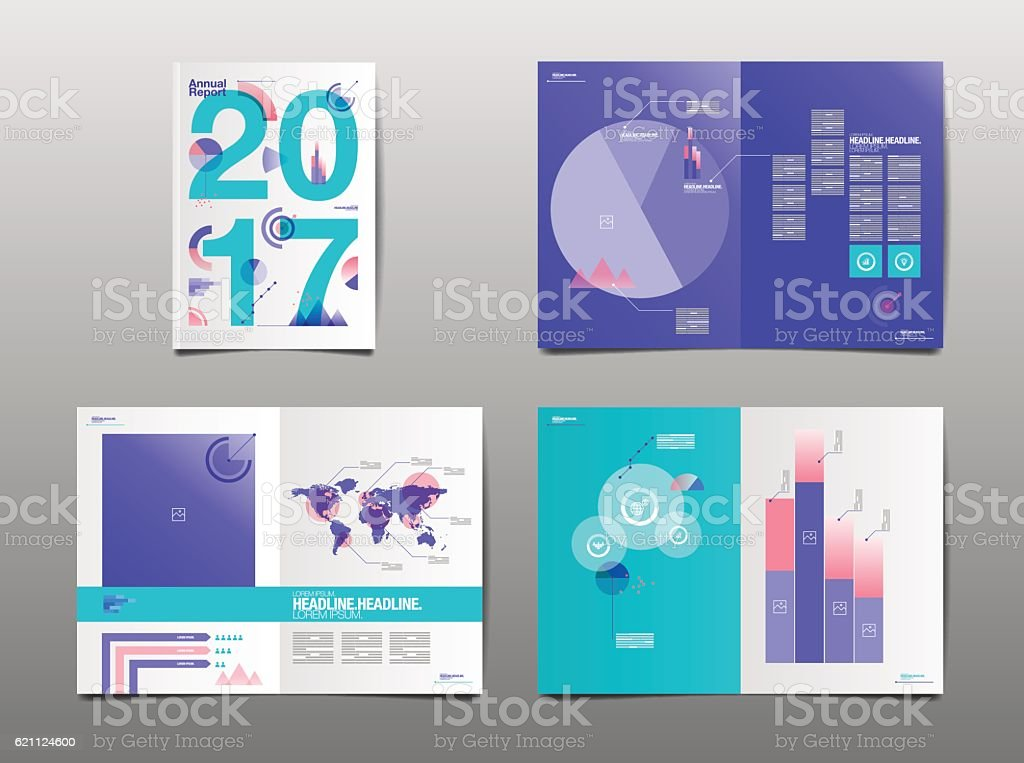 Annual Report  Template Layout Design Stock Vector Art  More