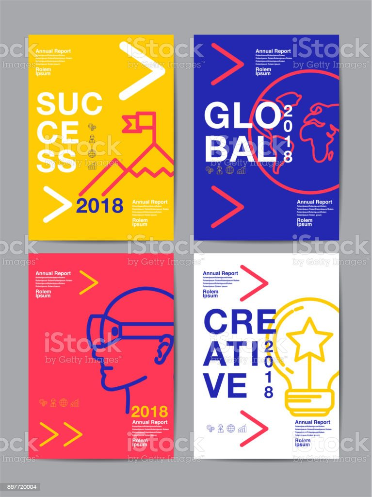 annual report 2018 ,future, business, template layout design, cover book. vector colorful, infographic, abstract flat background. vector art illustration