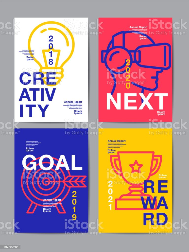 Bекторная иллюстрация annual report 2018 ,future, business, template layout design, cover book. vector colorful, infographic, abstract flat background.