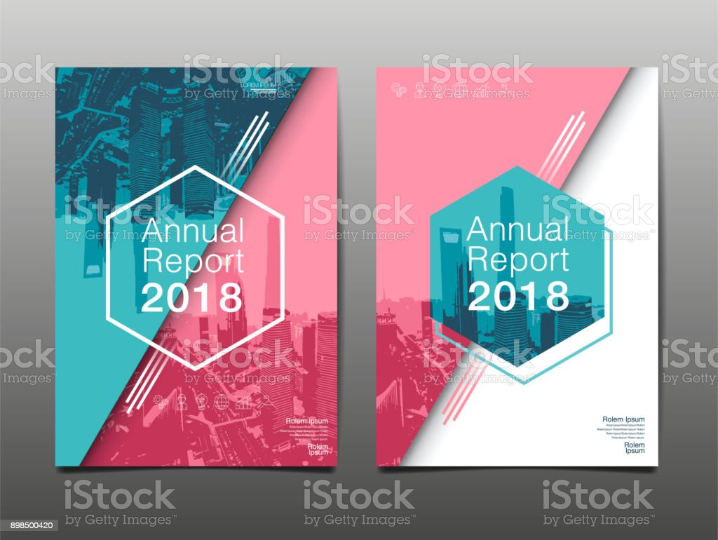 annual report 2018 future business template layout design
