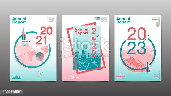 istock annual report 2020,2021,2022,2023 ,future, business, template layout design, cover book. vector illustration,presentation abstract  background. 1259615652