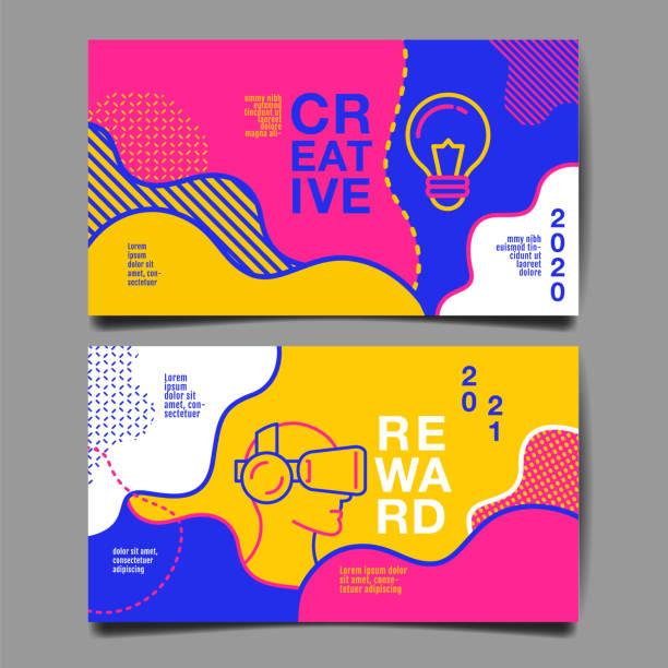 bildbanksillustrationer, clip art samt tecknat material och ikoner med års redovisning 2020, 2021, framtida, företag, mall layout design, omslags bok. vektor färgglada, infographic, abstrakt platt bakgrund. - kreativitet