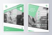 Annual report  brochure. Business plan flyer design template.