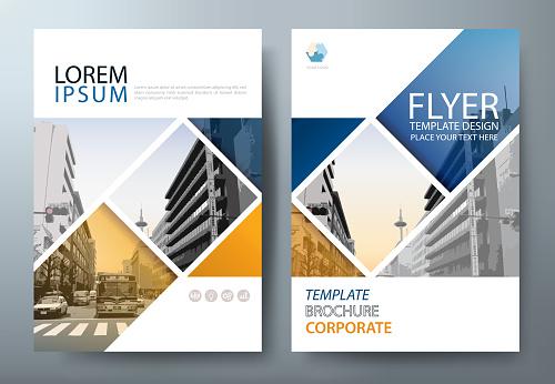 Annual report brochure flyer design template vector, Leaflet cover presentation, book cover.