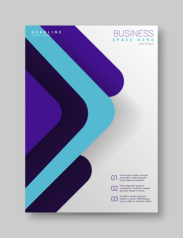 Annual report brochure flyer design template vector, Leaflet cover presentation abstract technology background