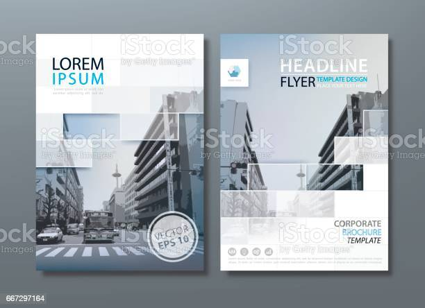 Annual Report Brochure Flyer Design Template Vector Leaflet Cover Presentation Book Cover Stock Illustration - Download Image Now