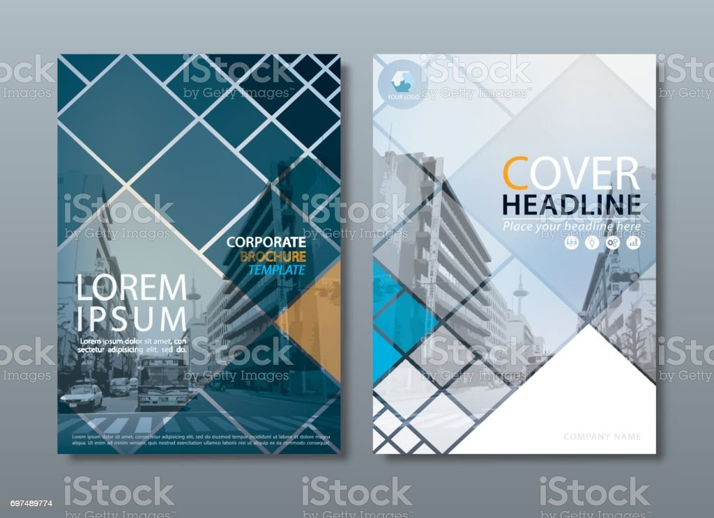 Annual report brochure flyer design template vector, Leaflet cover presentation, book cover. vector art illustration