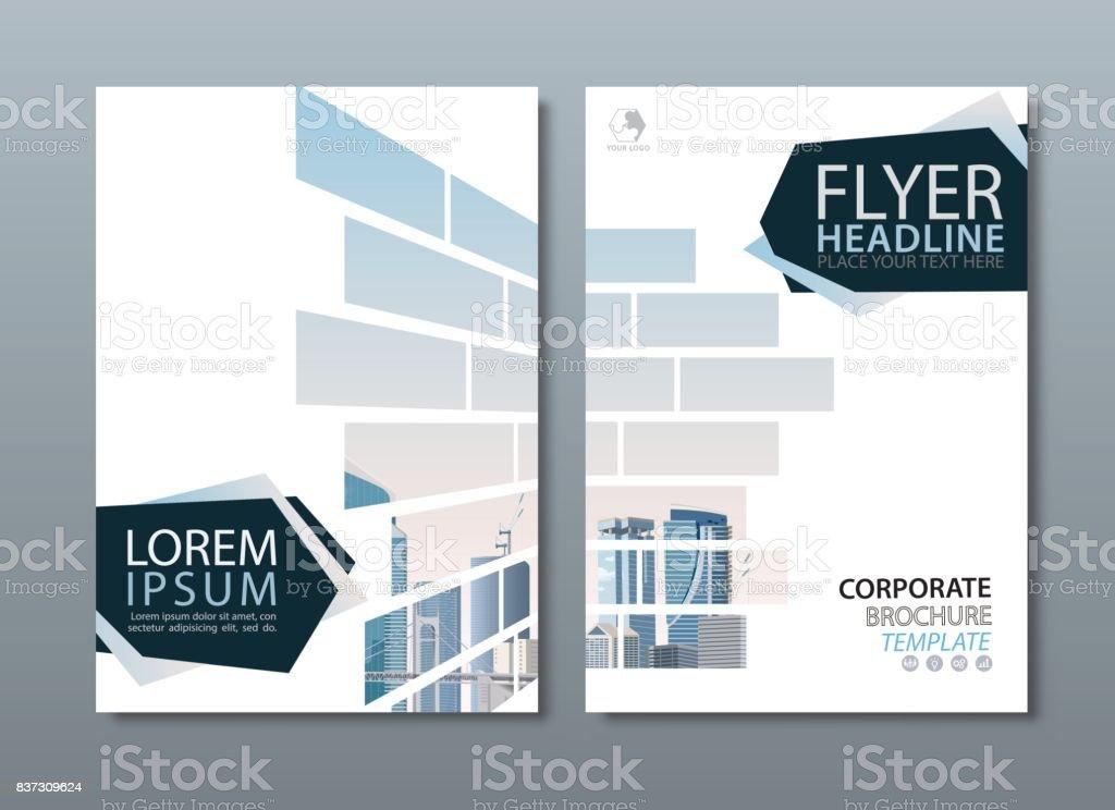 年次報告書パンフレット チラシ デザイン テンプレート ベクトル