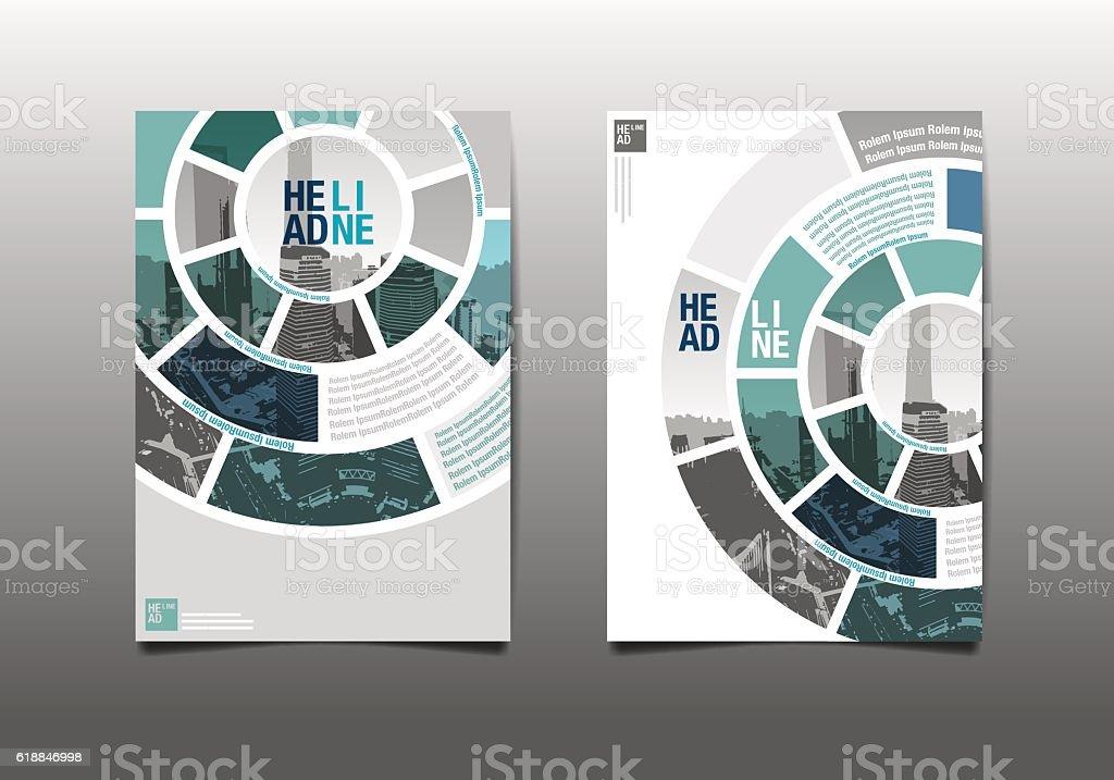 Relatório anual folheto de vetor de modelo de projeto - ilustração de arte em vetor
