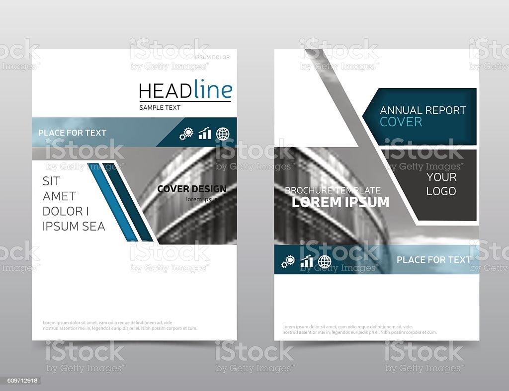 annual report cover blue brochure design leaflet layout presentation