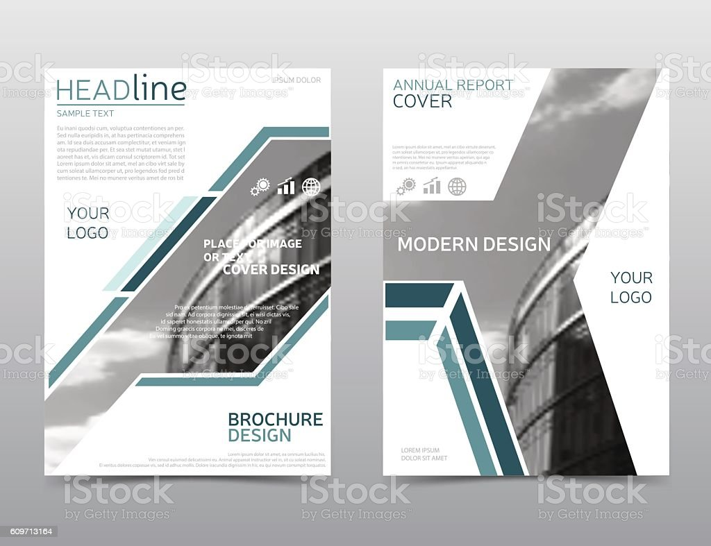 Annual Report Cover Brochure Template Leaflet Layout Modern ...