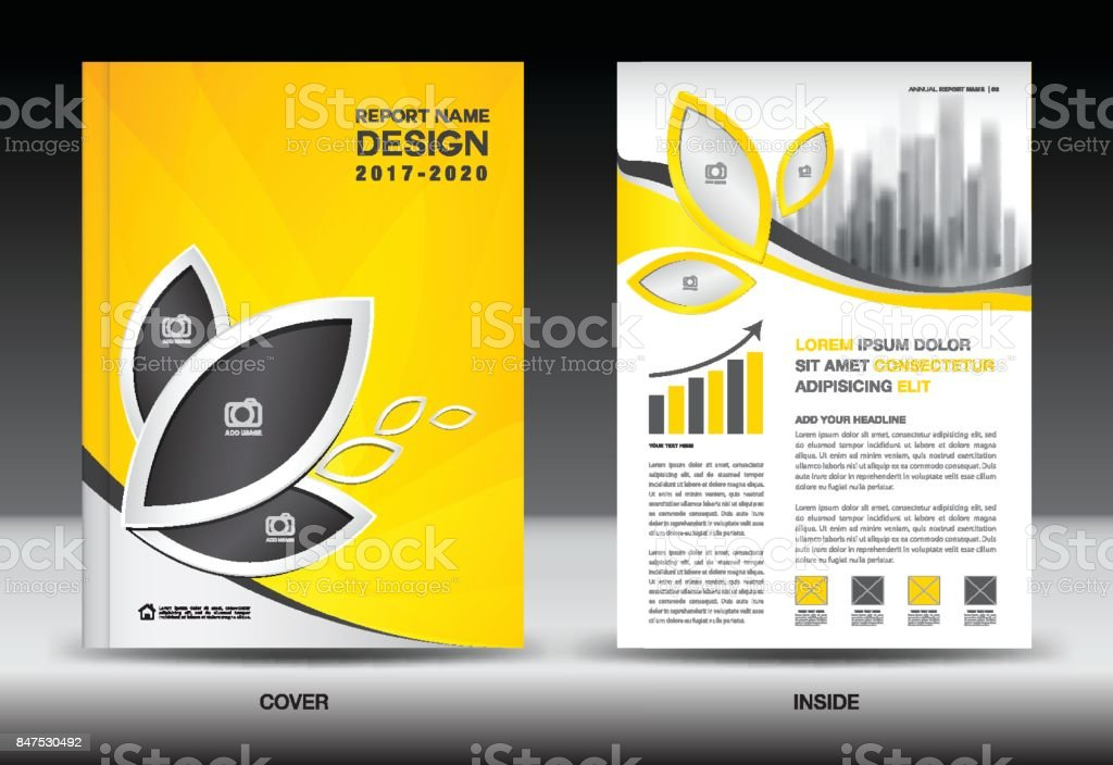 Brochure Booklet Flyer Or Book Cover Template Vector : Annual report cover business brochure flyer template blue