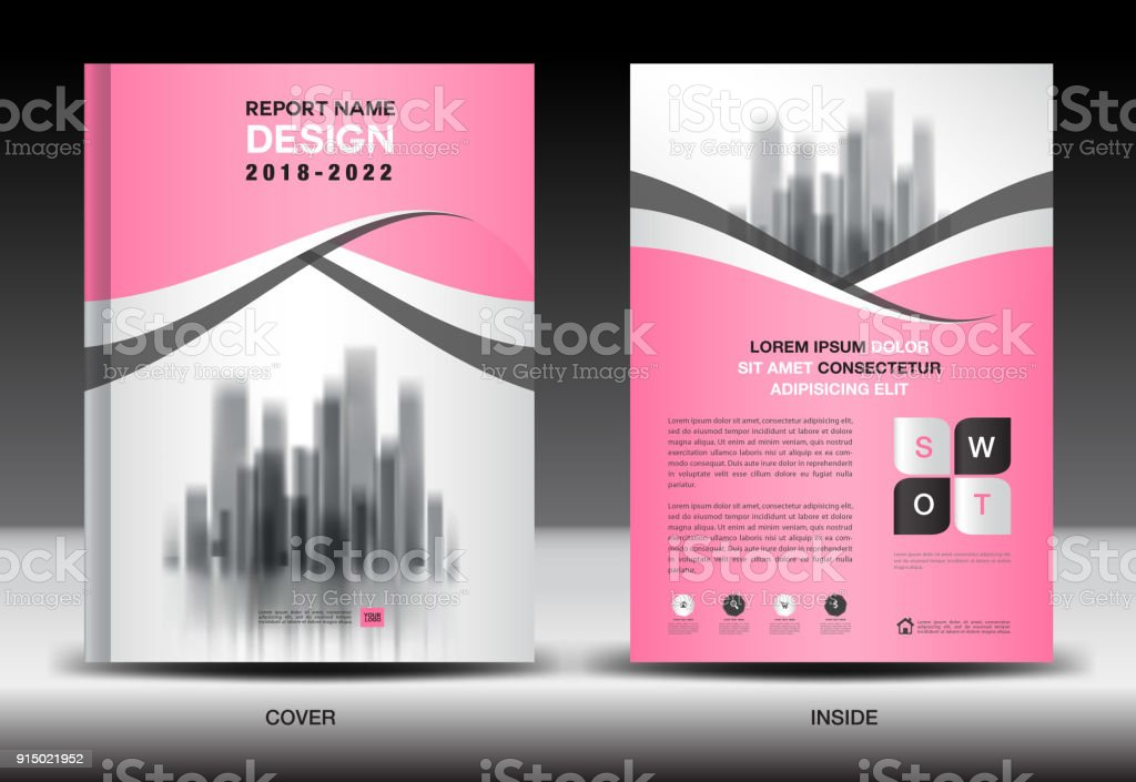 Annual Report Cover Business Brochure Flyer Template Pink Cover
