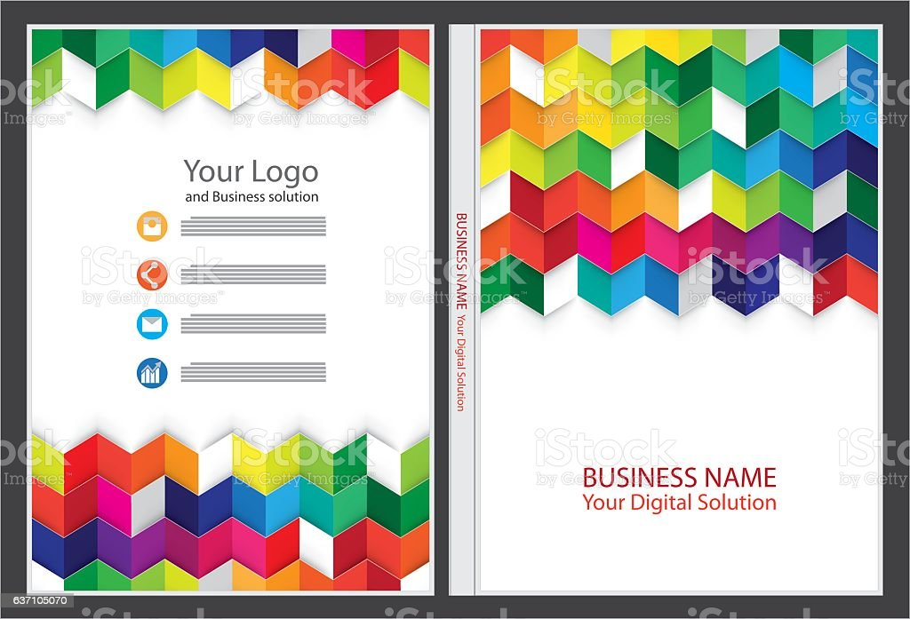 Annual report cover design vector art illustration