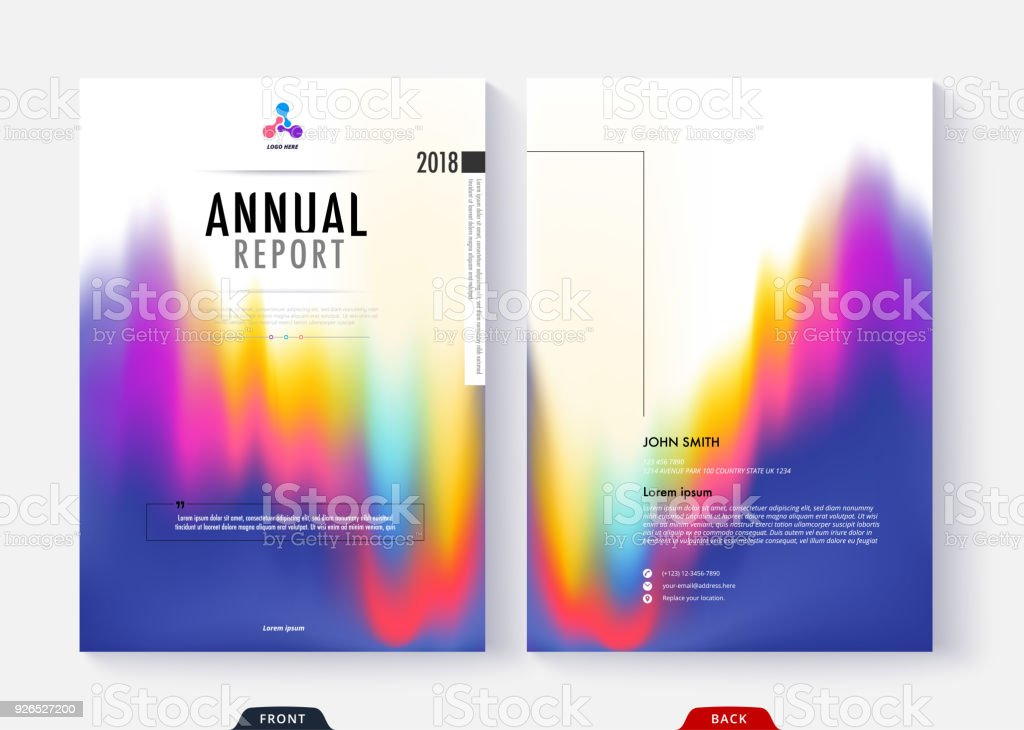 annual report cover template collection design for business document