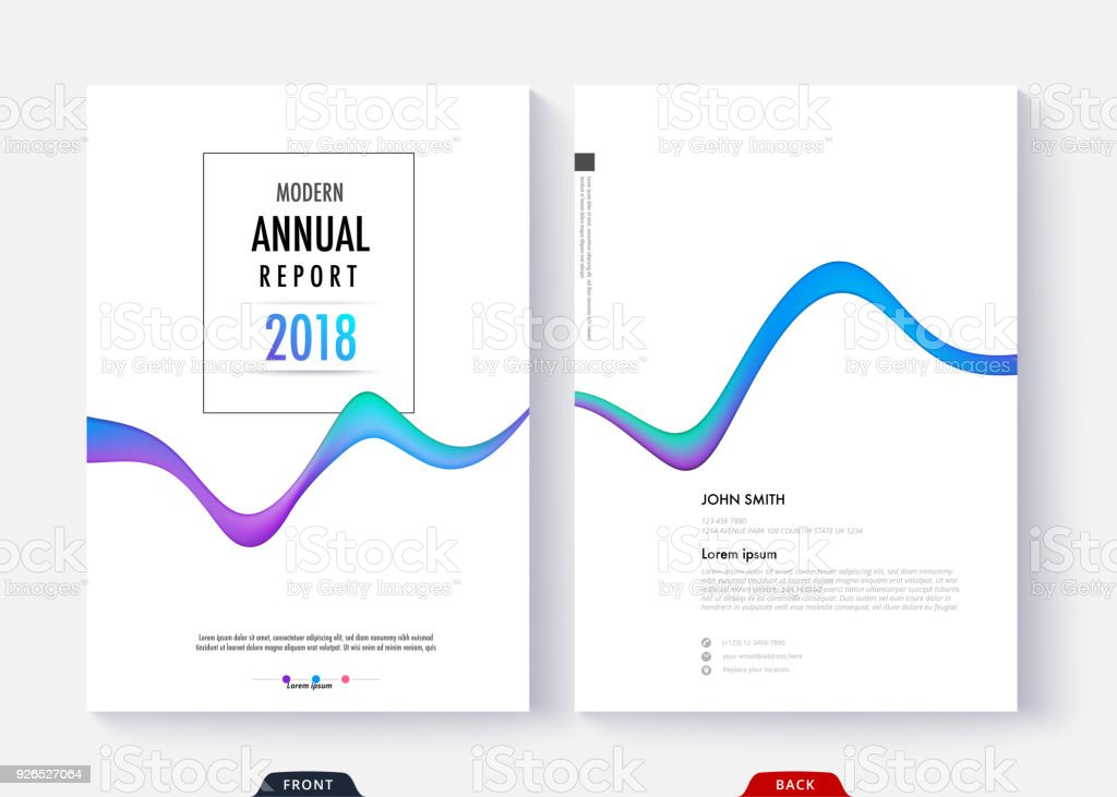 annual report cover template design for business document page and