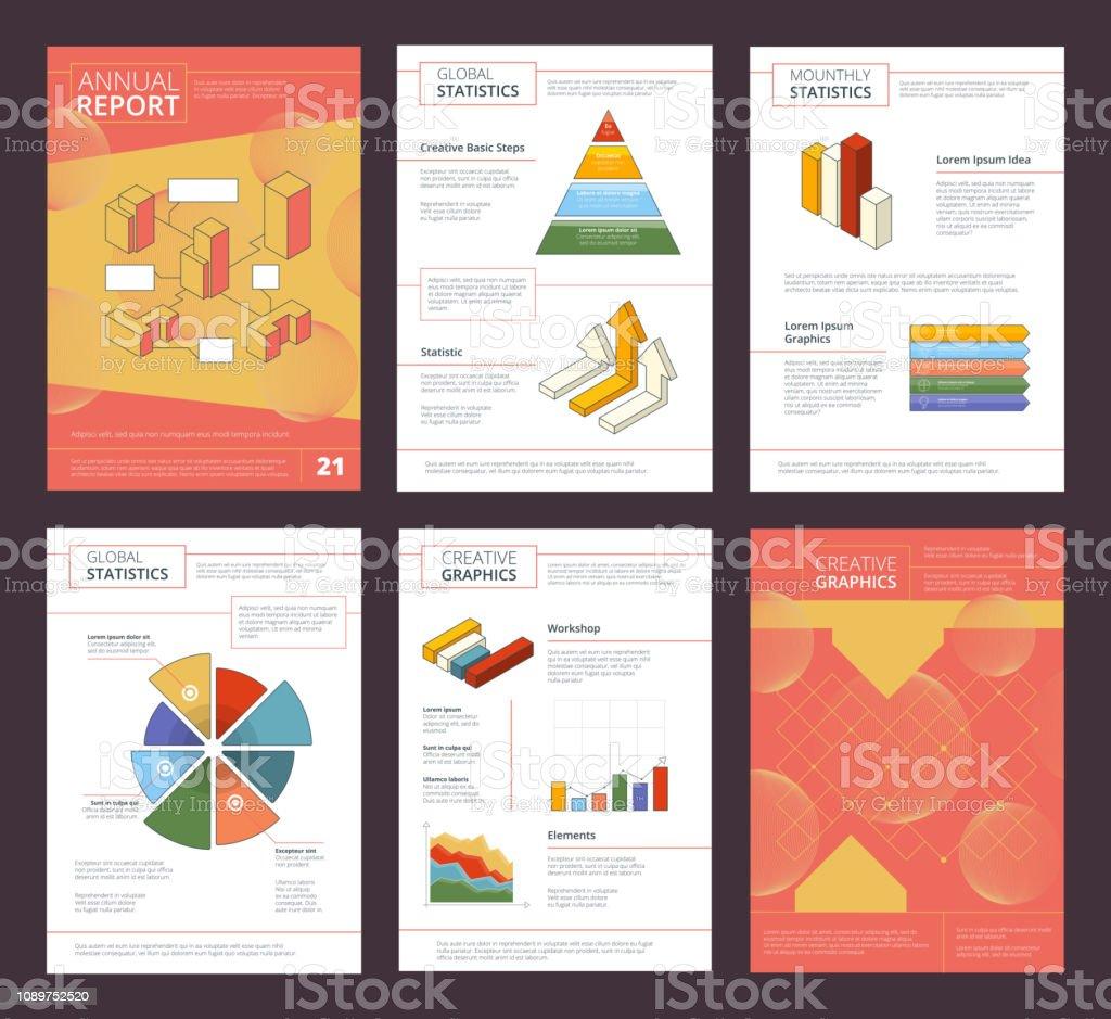 Rapport Annuel Du Design Entreprise Buklet Pages Mise En