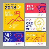 Annual Report Design Template 2018, Business Company, Vector Illustration.