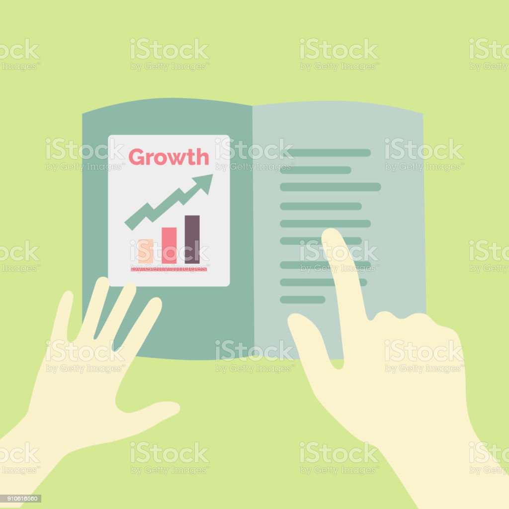 Annual report growth presentation concept illustration vector art illustration