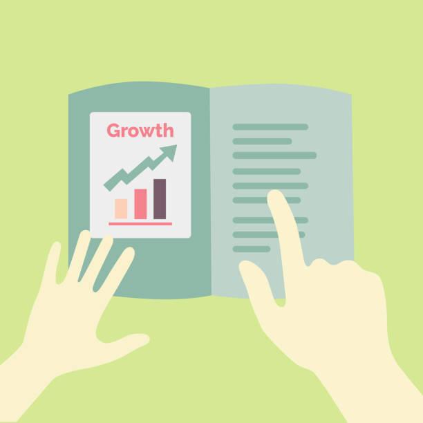 Annual report growth presentation concept illustration vector art illustration