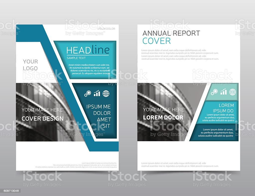 Annual Report Layout Brochure Template Magazine Cover Modern - Technology brochure template