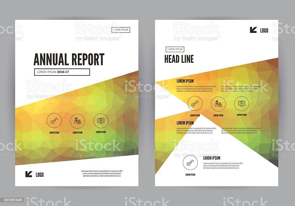 年次レポートリーフレットパンフレットフライヤーテンプレート a 4