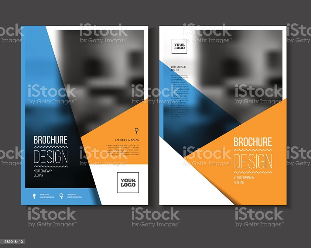 Annual report vector illustration. Brochure with text. A4 size