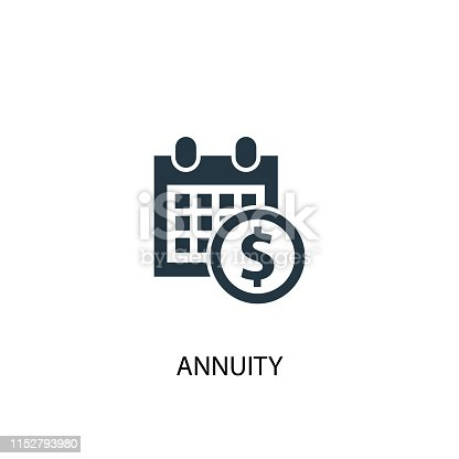annuity icon. Simple element illustration. annuity concept symbol design. Can be used for web and mobile.