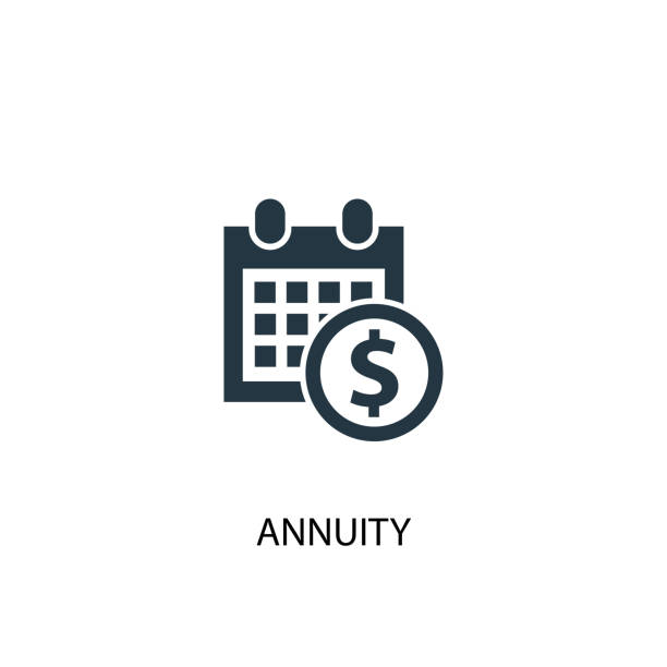 annuity icon. simple element illustration. annuity concept symbol design. can be used for web and mobile. - płacić stock illustrations