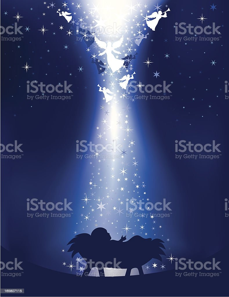 Annunciation Angel vector art illustration