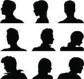 Vector anonymous avatar set