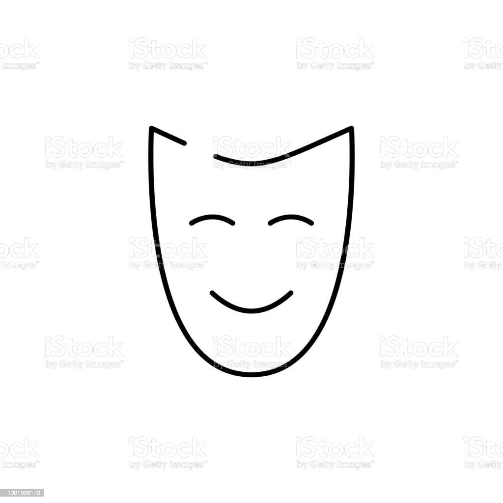 Anonym Gesicht Glücklich Symbol Element Von Weihnachten Für Mobile ...