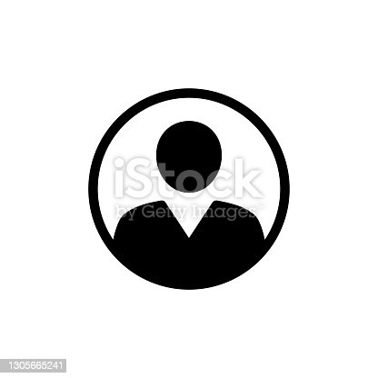 istock Anonymous gender neutral face avatar. Incognito head silhouette. stock illustration 1305665241