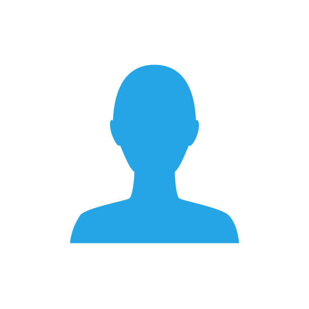Anonymous gender neutral face avatar. Incognito head silhouette. Anonymous gender neutral face avatar. Incognito head silhouette one person stock illustrations