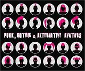 Anonymous Goth, Punk and Alternative Avatars