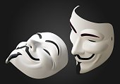 anonymous mask vector 3d isometric