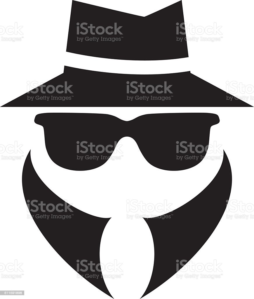 anonymous spy agent vector icon vector art illustration