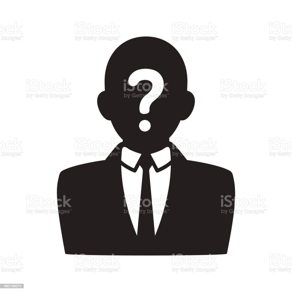 Anonymous user icon vector art illustration