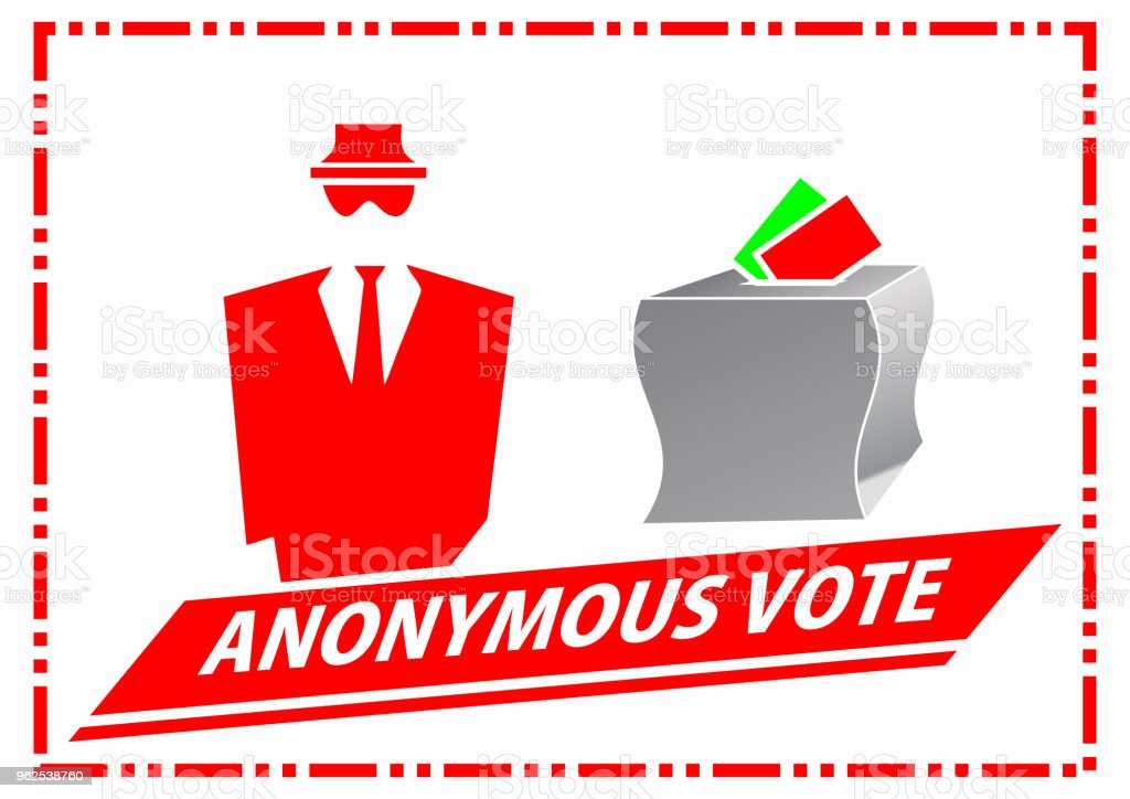 Anonymous Voting Illustration - Royalty-free Anonymous - Activist Network stock vector