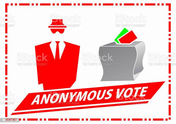 Vetores de Ilustração De Voto Anônima e mais imagens de Anonymous - Organização