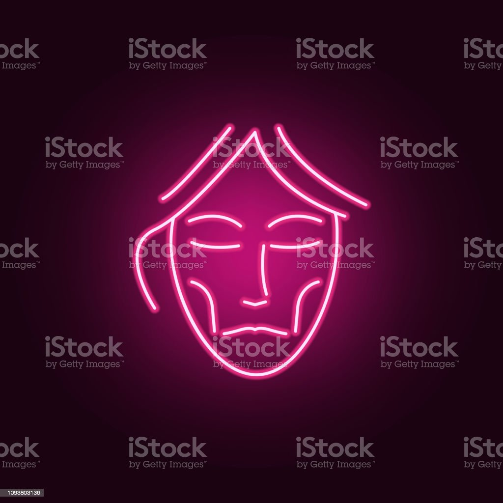 Anorexia beauty anti-aging icon. Elements of anti agies in neon style icons. Simple icon for websites, web design, mobile app, info graphics vector art illustration