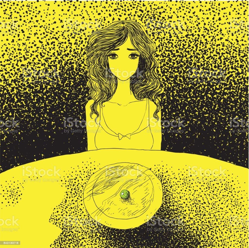 Anorexia concept vector art illustration