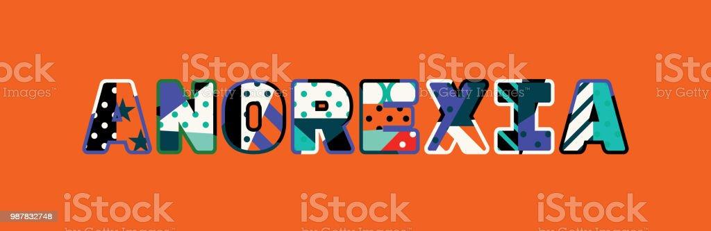 Anorexia Concept Word Art Illustration vector art illustration