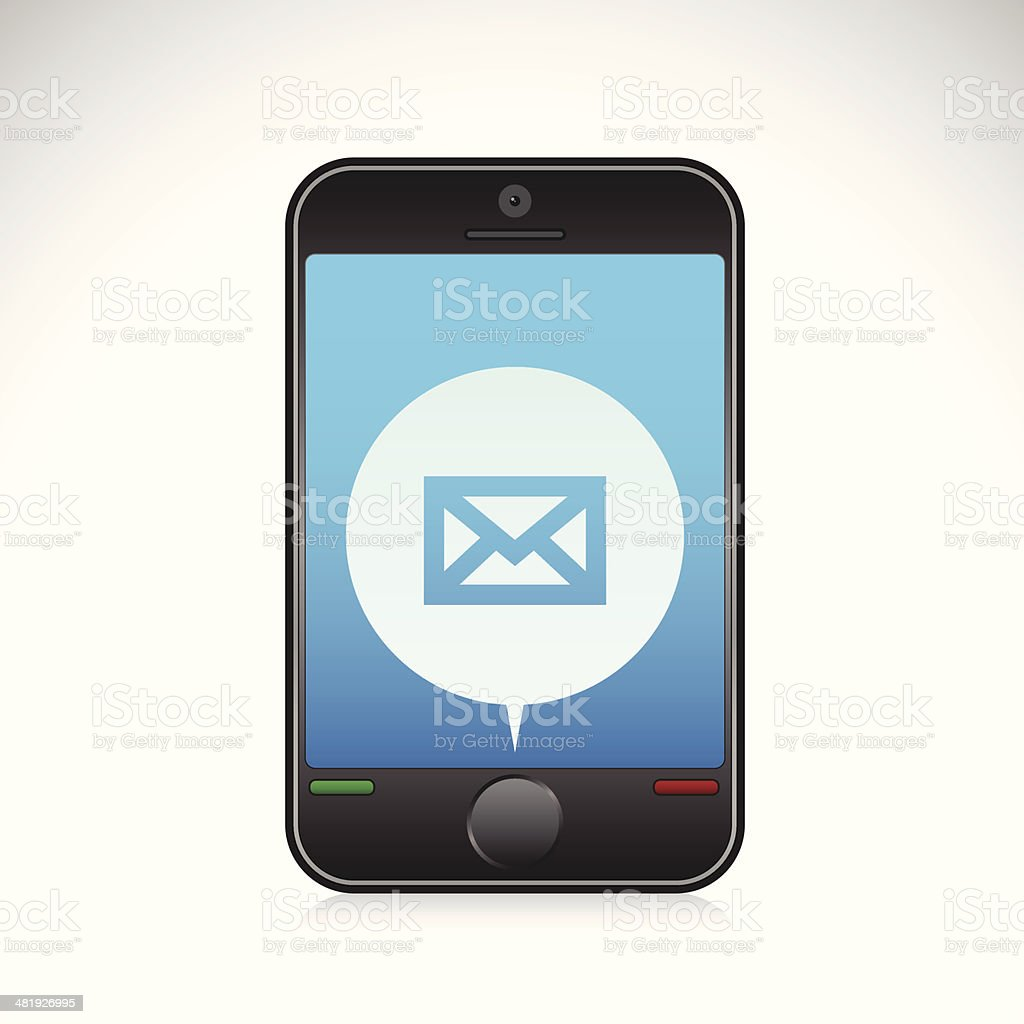 Another New Notification Smart Phone royalty-free stock vector art