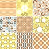 Nine tileable wallpaper patterns.