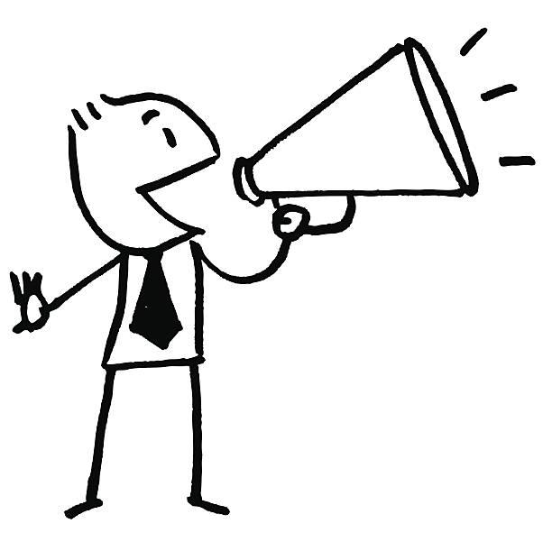 Best Public Speaker Announcement Message Stick Figure
